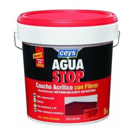 Impermeabilizante aguastop caucho acrilico con fibras 5 kg Terracota