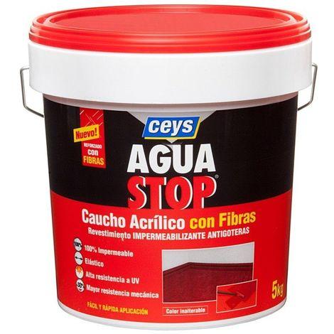 Impermeabilizante Caucho Acrilico C/fibras Gris 5kg Aguastop