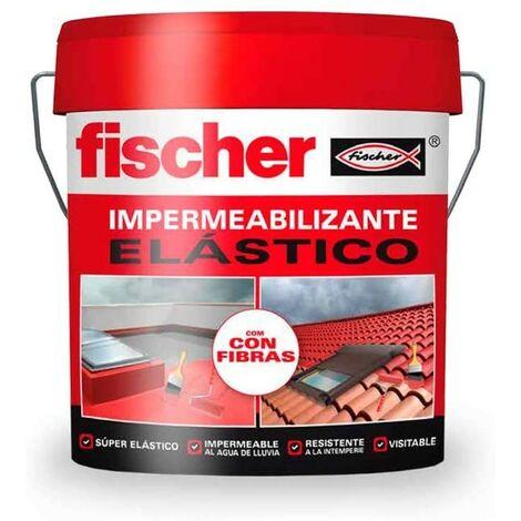 Impermeabilizante elastico con fibra 4 l rojo FISCHER