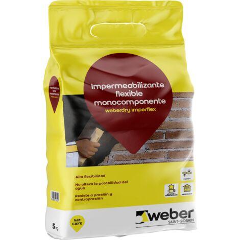 Impermeabilizante flexible monocomponente - weberdry imperflex 5kg