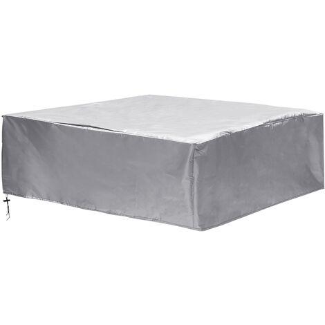Impermeable 280x280x80cm Cubierta Jardín Muebles de patio al aire libre Banco de mesa