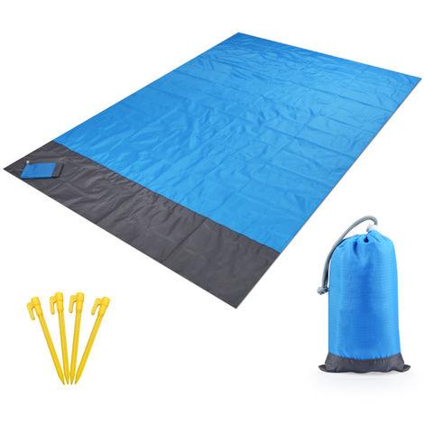 Impermeable al aire libre Manta Beach alfombra de picnic portatil area de camping colchon de la estera, 2X2.1M
