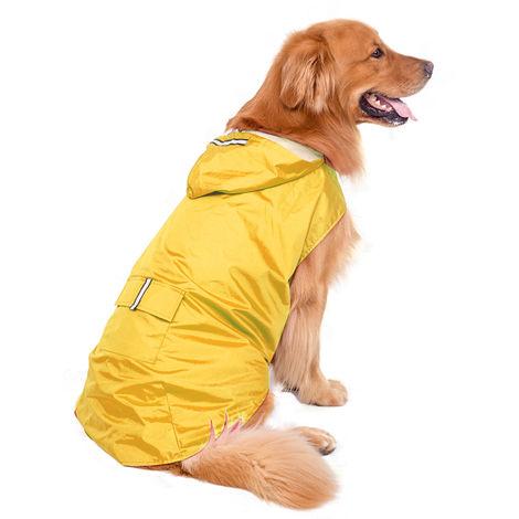 Impermeable para perros, amarillo, 6XL