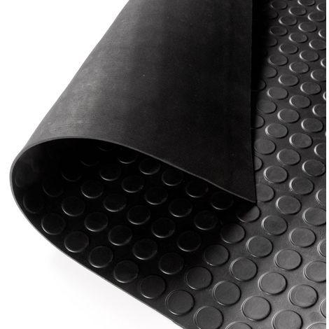Importación Suelo de caucho circulos. Metreado 2 m ancho