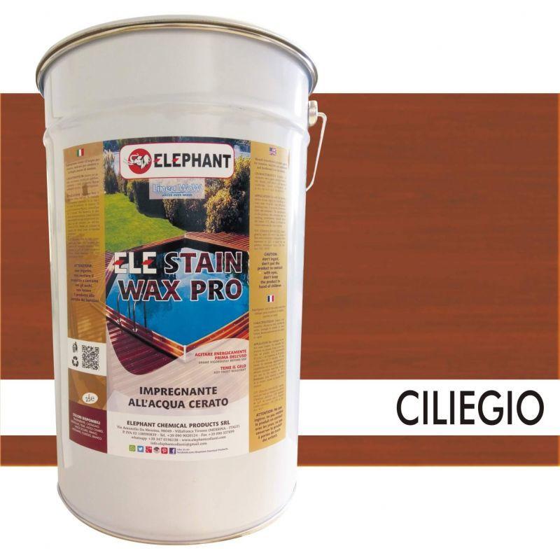 Image of Elephant Chemical Products - Impregnante per legno all'acqua CERATO (Ciliegio) - ELE STAINWAX PRO 25 lt