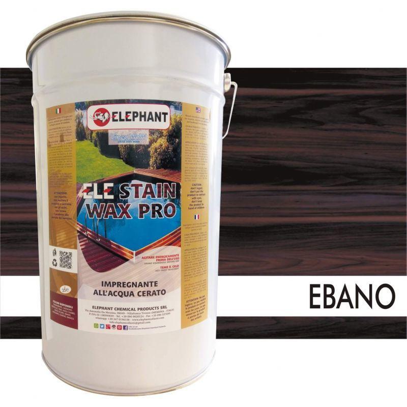 Image of Impregnante per legno all'acqua CERATO (Ebano) - ELE STAINWAX PRO 25 lt