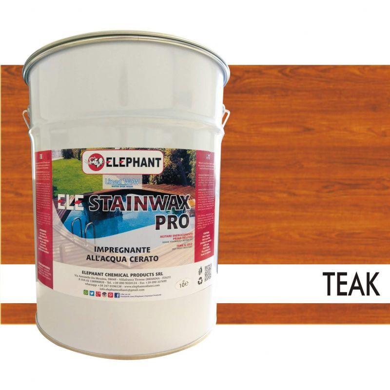 Image of Impregnante per legno all'acqua CERATO (Teak) - ELE STAINWAX PRO 10 lt
