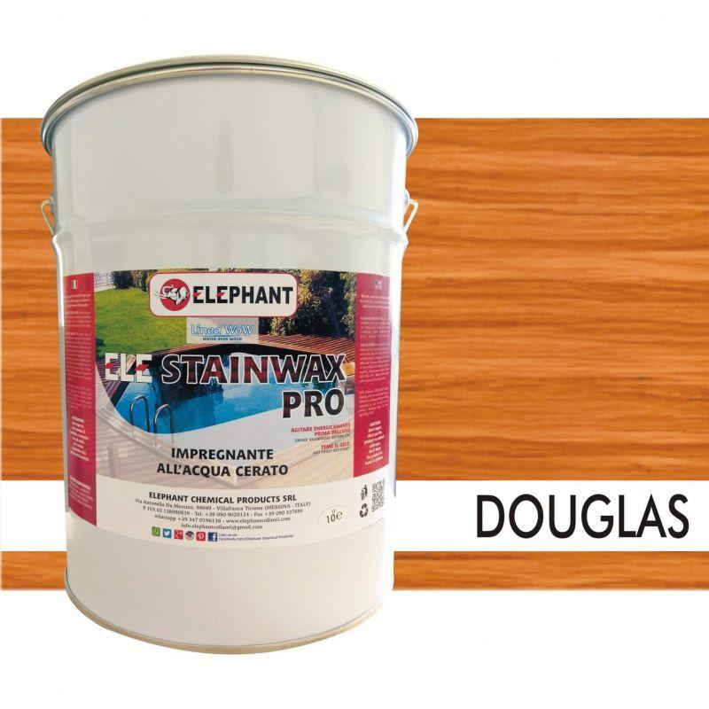 Image of Impregnante per legno all'acqua CERATO (Douglas) - ELE STAINWAX PRO 10 lt
