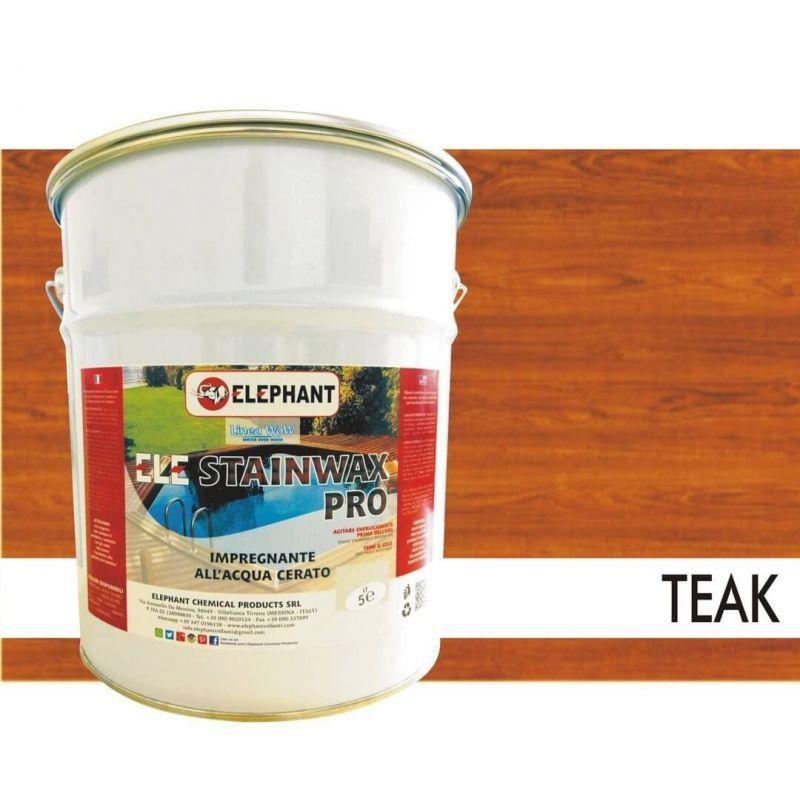 Image of Impregnante per legno all'acqua CERATO (Teak) - ELE STAINWAX PRO 5 lt