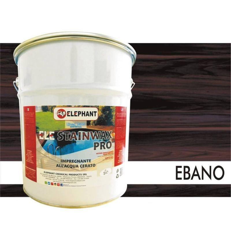 Image of Impregnante per legno all'acqua CERATO (Ebano) - ELE STAINWAX PRO 5 lt