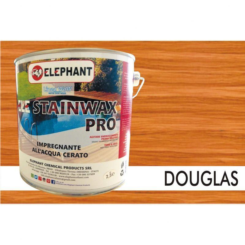 Image of Elephant Chemical Products - Impregnante per legno all'acqua CERATO (Douglas) - ELE STAINWAX PRO 2,5 lt