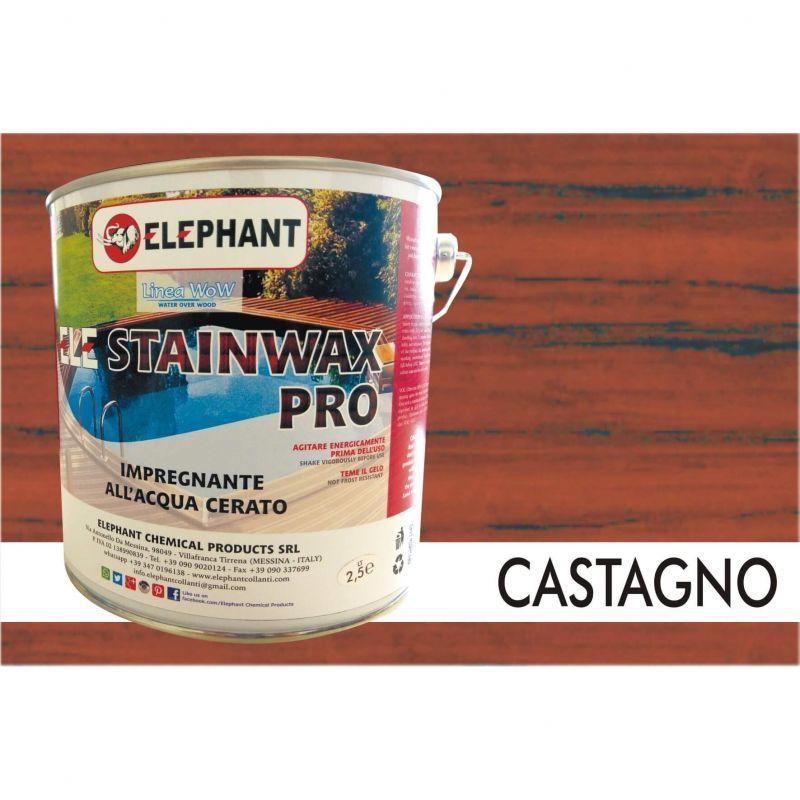 Image of Impregnante per legno all'acqua CERATO (Castagno) - ELE STAINWAX PRO 2,5 lt