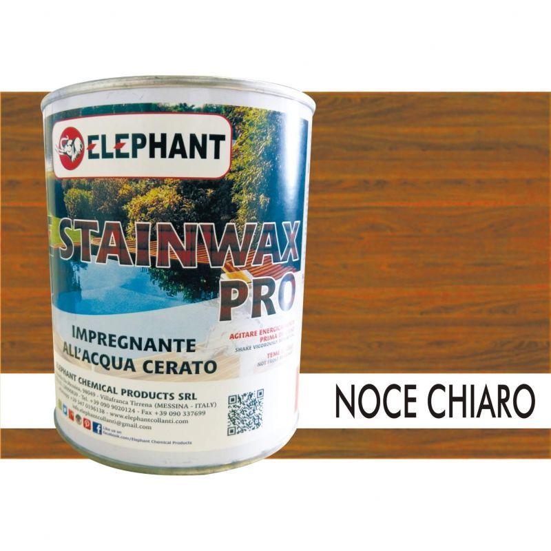 Image of Impregnante per legno all'acqua CERATO (Noce Chiaro) - ELE STAINWAX PRO 0,75 lt