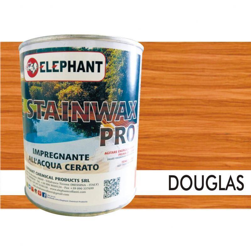 Image of Elephant Chemical Products - Impregnante per legno all'acqua CERATO (Douglas) - ELE STAINWAX PRO 0,75 lt