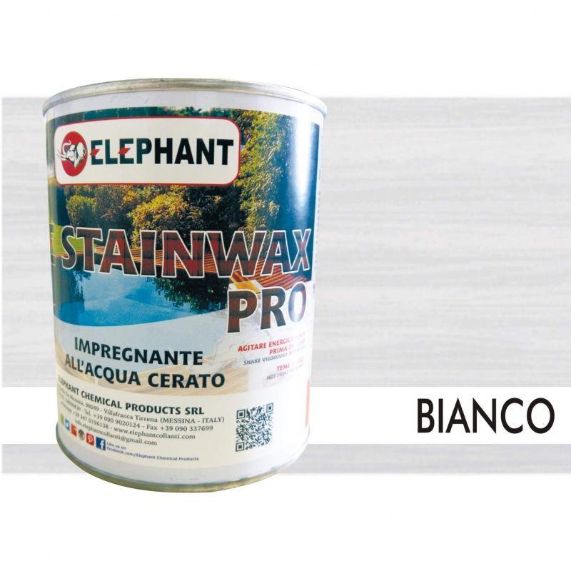 Image of Impregnante per legno all'acqua CERATO (Bianco) - ELE STAINWAX PRO 0,75 lt