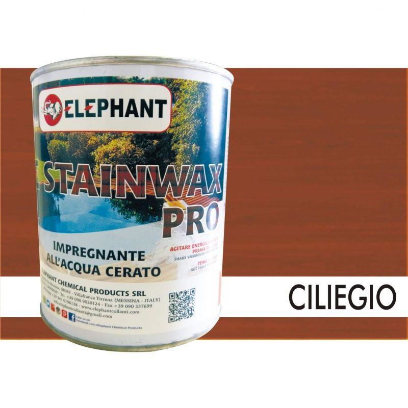 Image of Elephant Chemical Products - Impregnante per legno all'acqua CERATO (Ciliegio) - ELE STAINWAX PRO 0,75 lt
