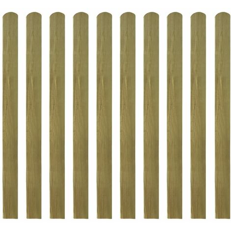 Impregnated Fence Slats 10 pcs Wood 120 cm