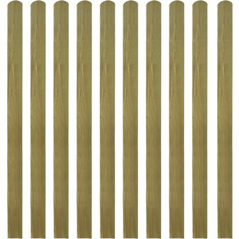 Impregnated Fence Slats 10 pcs Wood 140 cm