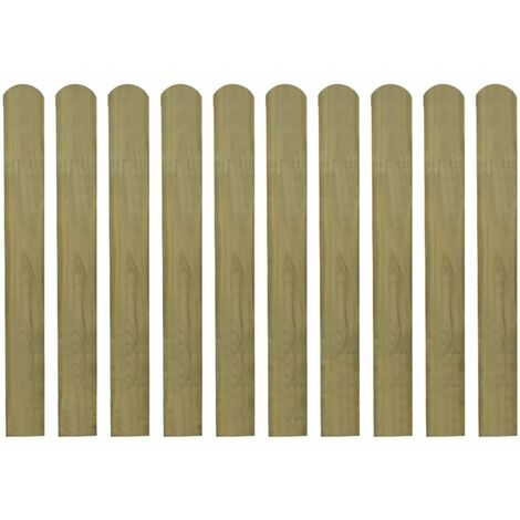 Impregnated Fence Slats 10 pcs Wood 80 cm