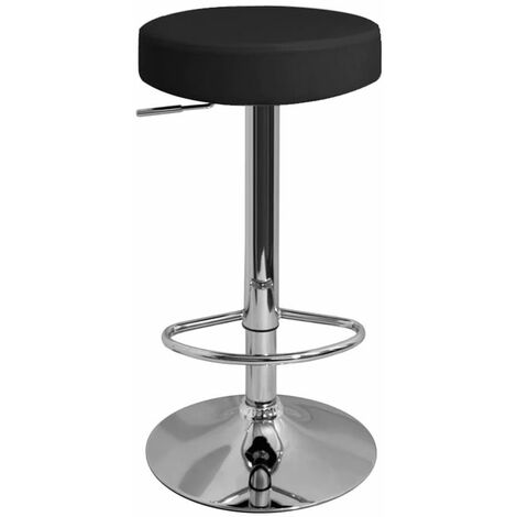 Impresa Height Adjustable Bar Stool With Black Faux Leather Padded Seat Swivel Red Faux Leather Chrome Red 63.5 - 83.5 cm Chrome