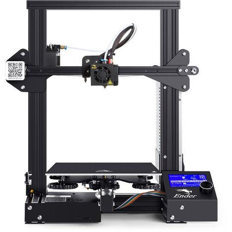 Impresora 3D Creality Ender-3 Ranura en V Prusa I3 DIY Kit MK-10 Extrusora 220X220X250mm Hasaki