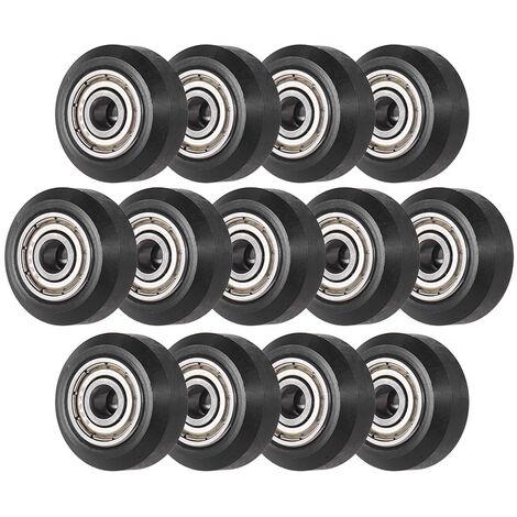 Impresora 3D de plastico Creality pasivos Polea ruedas Rodillos redondas con rumbo desde Perlin pinon polea de rueda para CR-10 Series Ender-3, 1 paquete de 13pcs