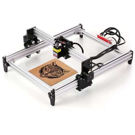 Impresora 500MW de escritorio DIY Maquina de grabado laser CNC grabador laser Carver, para escultura corte y grabado