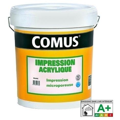IMPRESSION ACRYLIQUE 15L - Sous-couche polyvalente - COMUS - blanc