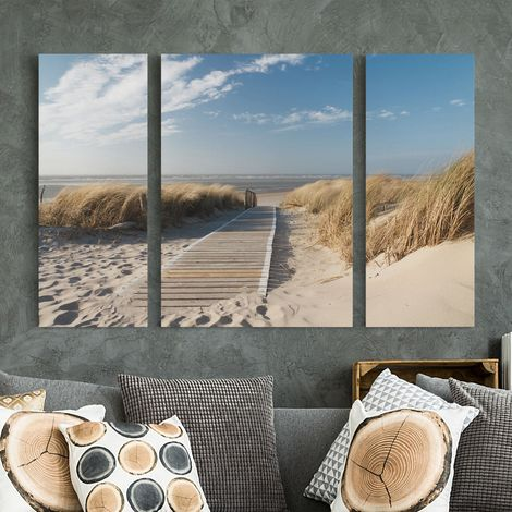 impression sur toile 3 parties - baltic sea beach - tableau