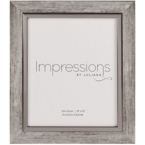 Impressions Brushed Pewter Effect Photo Frame - 8' x 10'