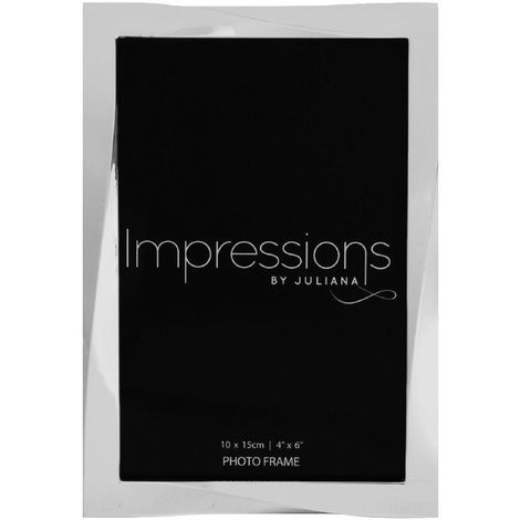 Impressions Silverplated Twisted Photo Frame - 4' x 6'
