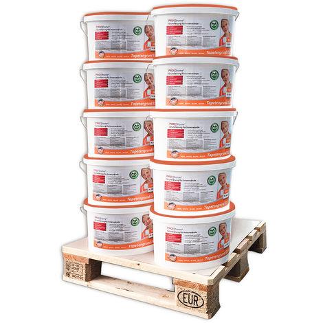 Imprimación para empapelar PROFHOME 300-21-10 especial para paredes interiores papeles pintados y no tejidos blanco 100 L para 1000 m2