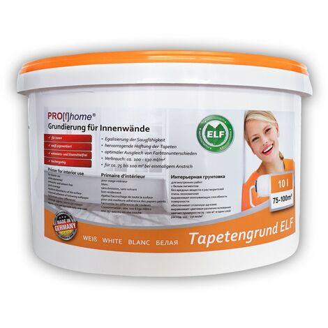 Imprimación para empapelar PROFHOME 300-21 especial para paredes interiores papeles pintados y no tejidos blanco 10 L para 100 m2