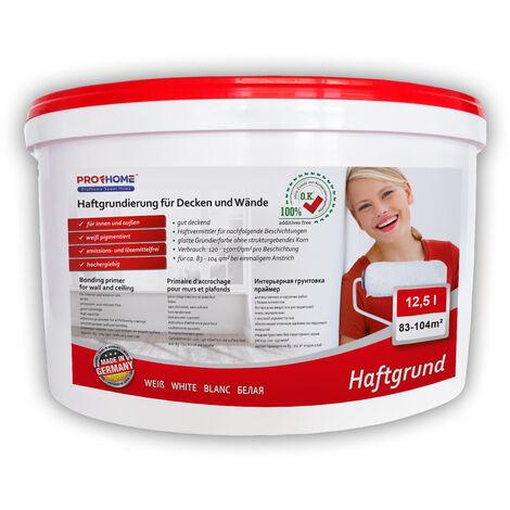 Imprimación para paredes interiores PROFHOME 300-22 Promotor adherencia para papeles pintados y no tejidos pesados blanco 12,5L para 60 m2