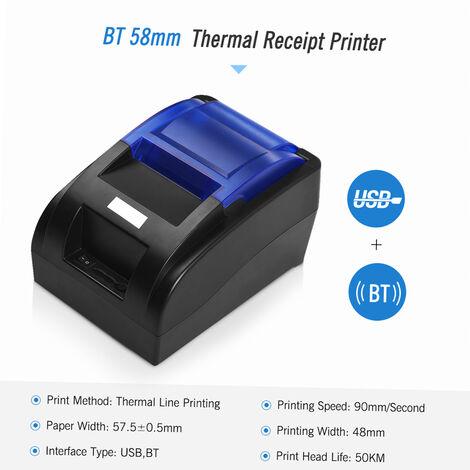 Imprimante A Recu Thermique De 58 Mm, Avec Interface Bt Et Usb