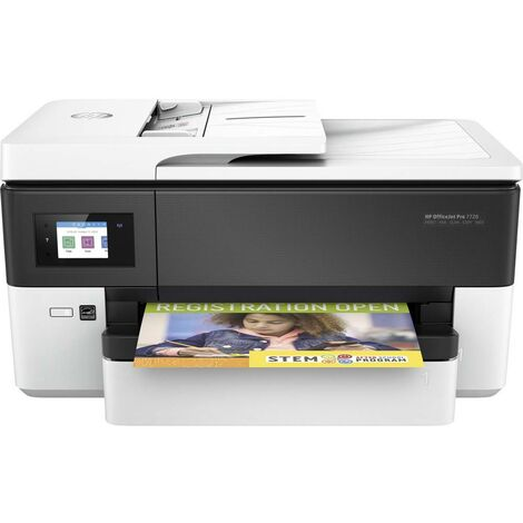 Imprimante multifonction à jet dencreHP Officejet Pro 7720 Wide Format All-in-One A3 imprimante, scanner, photocopieur, fax réseau, Wi-Fi, recto-ver