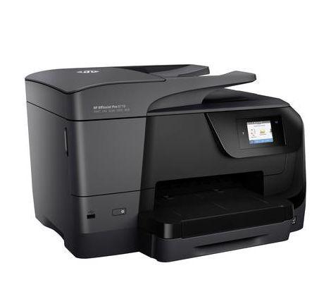 Imprimante multifonction à jet dencreHP OfficeJet Pro 8710 All-in-One A4 imprimante, scanner, photocopieur, fax réseau, Wi-Fi, recto-verso, chargeur