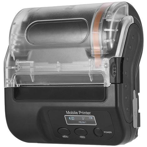 Imprimante Thermique Auto-Adhesive Sans Fil Bt 80 Mm, Avec Cable Usb Pour Batterie Rechargeable