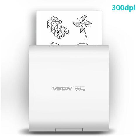Imprimante Thermique De Poche 300Dpi Sans Fil Bt Avec 1 Rouleau De Papier, 300Dpi
