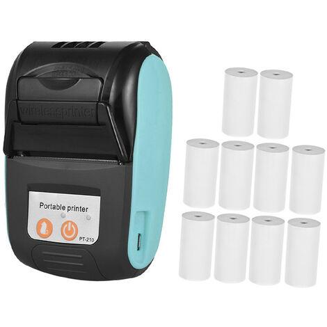 Imprimante thermique portative 58mm, pour la logistique des usines de restaurants de magasins de detail, bleu