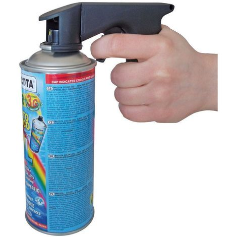 Impugnatura a Pistola Per Bombolette Spray Universale Professionale Macoplus