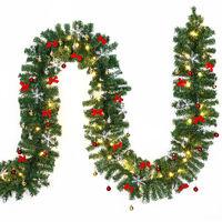 In- & Outdoor Weihnachtsgirlande - 10 m - 160 x LED - mit Deko