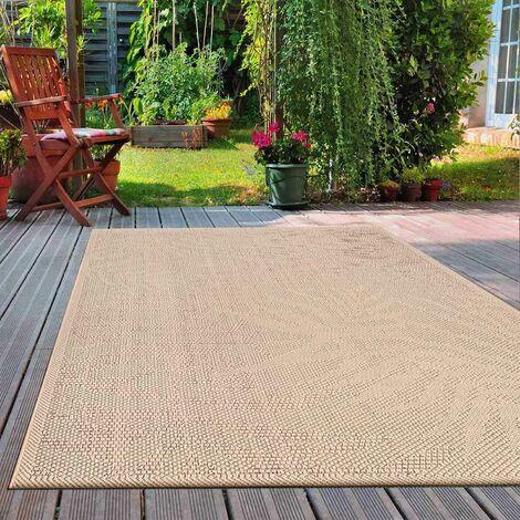 In- und Outdoor Teppich Küchen, Terrassen & Balkon Teppich In Beige