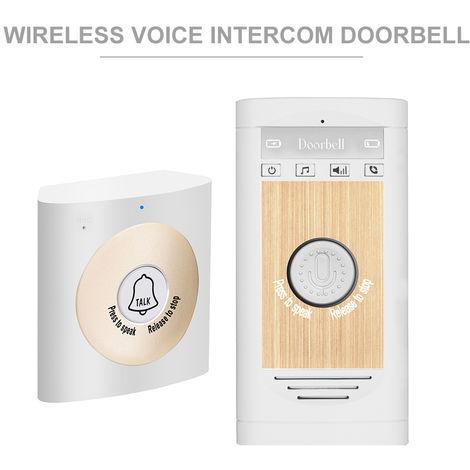 Inalambrica de voz del timbre del intercomunicador, 2 vias de conversacion monitor, Platinum