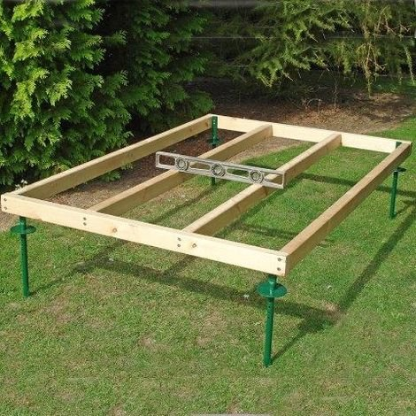 inc adjustable spikes Shed Base Approx 6 x 6 Feet