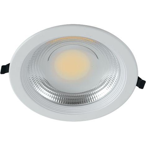 Faretto Led Cartongesso.Inc Lyra 30f Faretto Incasso Alluminio Bianco Tondo Cartongesso Led 30 Watt Luce Fredda