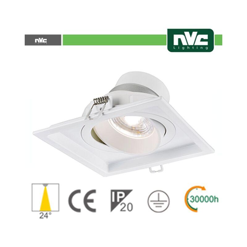 faretto incasso 9 watt 1 luce 220-240 volt 36° A+ CE bianco bianco naturale no quadrato lif nvm1a1x9w4k24 - NVC