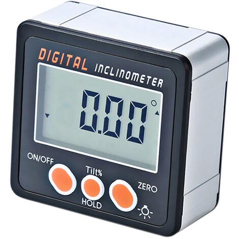 Inclinometro digital, 0-360 ¡ã, caja de bisel digital, base de imanes de medidor de angulo