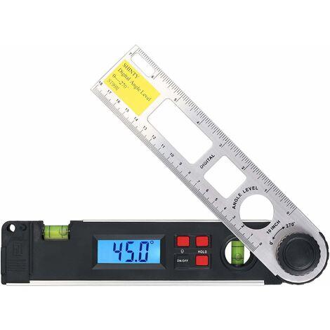 """main image of """"Inclinometro digitale 0 ~ 270 ° Goniometro 9V Goniometro digitale a batteria per livella a bolla per edilizia e lavorazione del legno, marcatura ausiliaria per la misurazione dell'angolo,"""""""