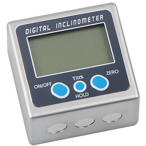 """main image of """"Inclinometro digitale multifunzionale Guscio in lega di zinco Goniometro elettronico a 360 ¡ã Mini calibro digitale angolare con magnete,Tipo 1 - Tipo 1"""""""
